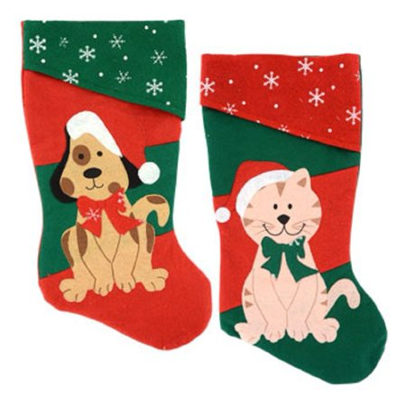 2 Pack: Pet Christmas Stockings, 18 Inch (1 Dog and 1 Cat), 2 Pack: 18 Inch 1 Dog and 1 Cat Stocking. By Christmas House,USA](Pet Christmas Stockings)