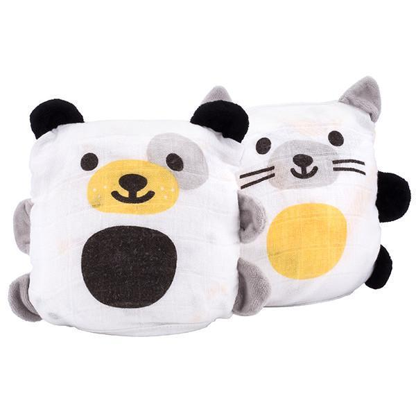 Ubbi Dog and Cat Blankee Buddies, Set of 2