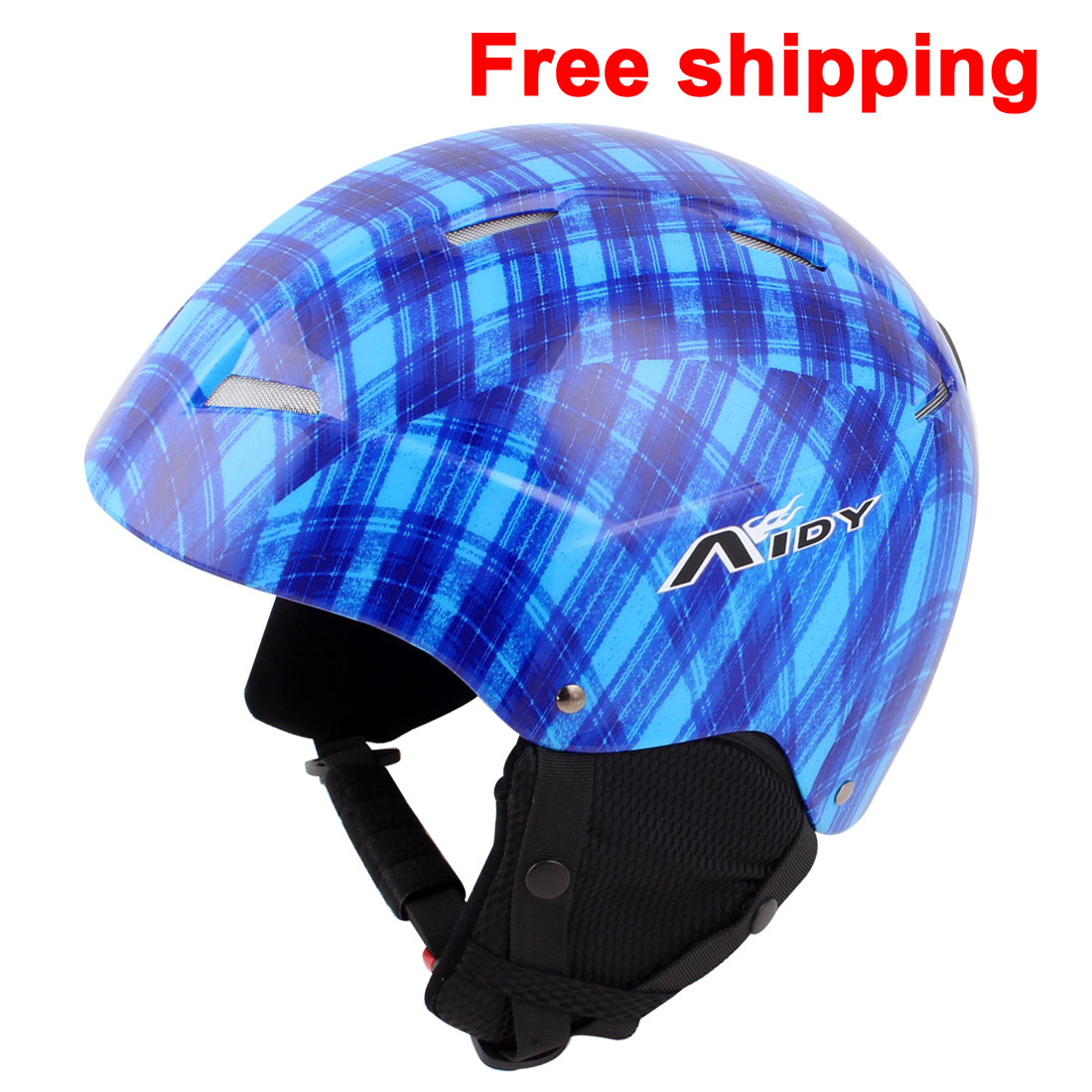2015 New Adult Ski Skateboard Skiing Snowboard Helmet Blue Black Size L by