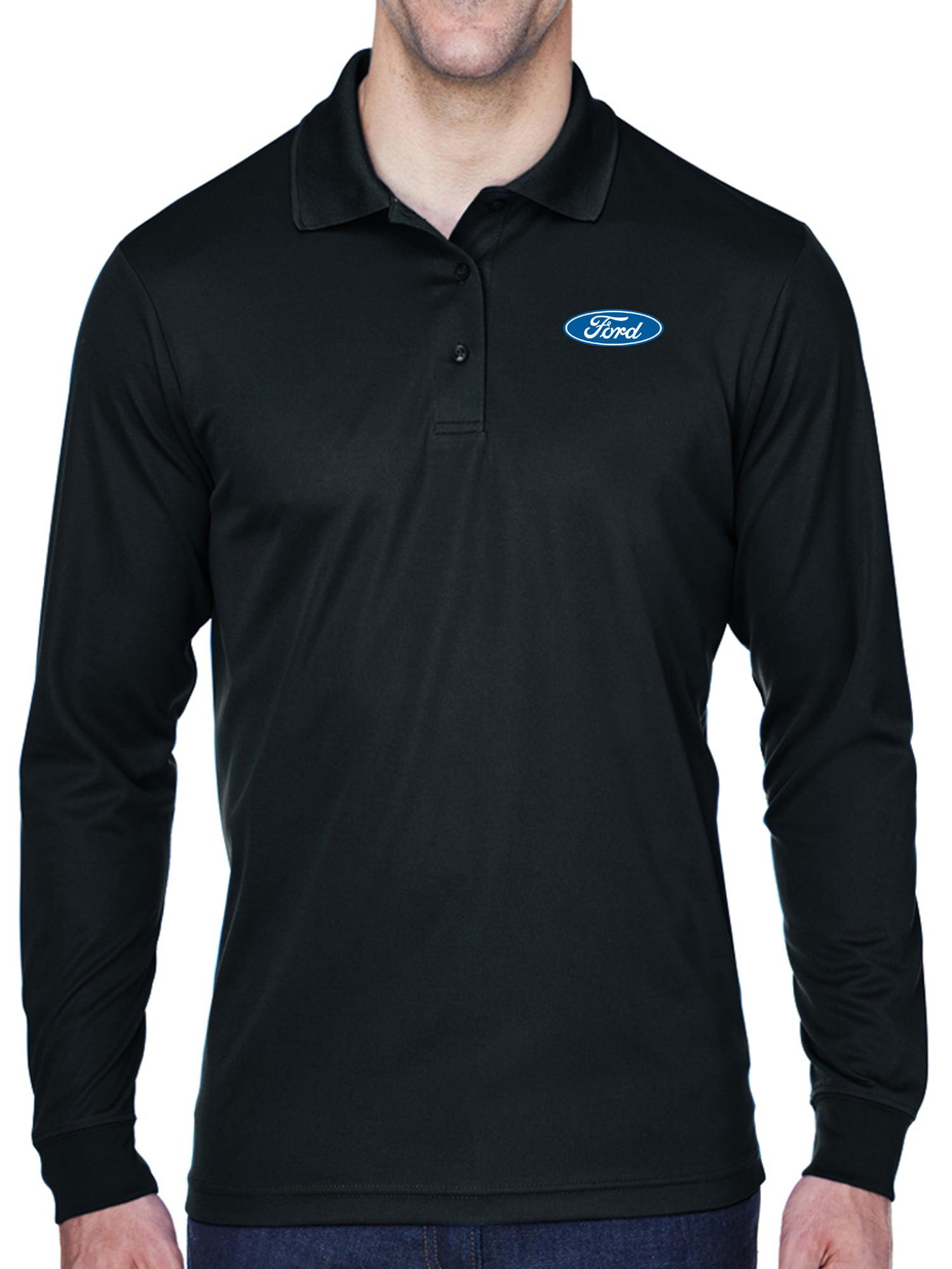 Buy Cool Shirts - Mens Ford Oval Logo Long Sleeve Polo Shirt - Black, 4XL - Walmart.com
