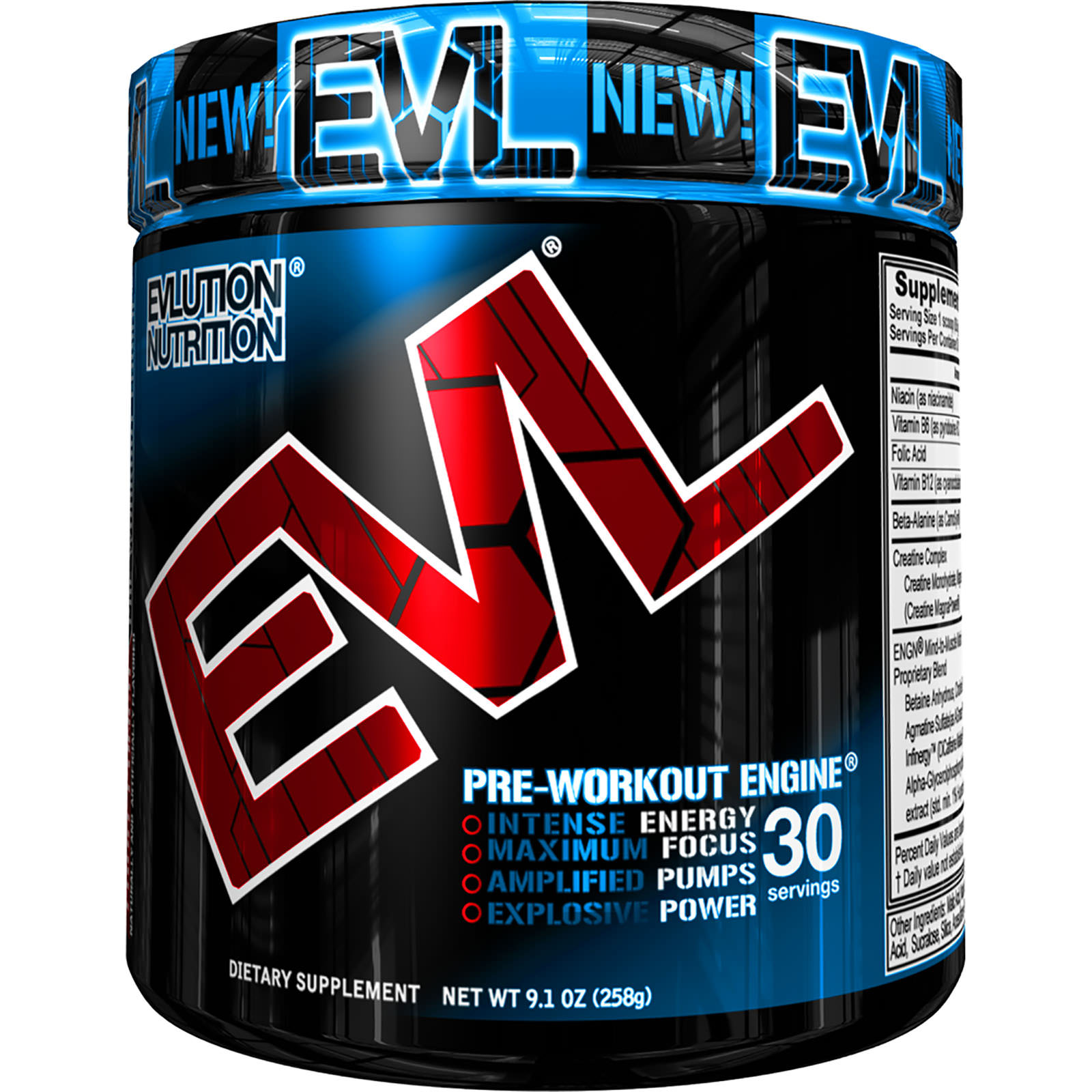 Evlution Nutrition ENGN Pre Workout Powder, Fruit Punch, 30 Servings