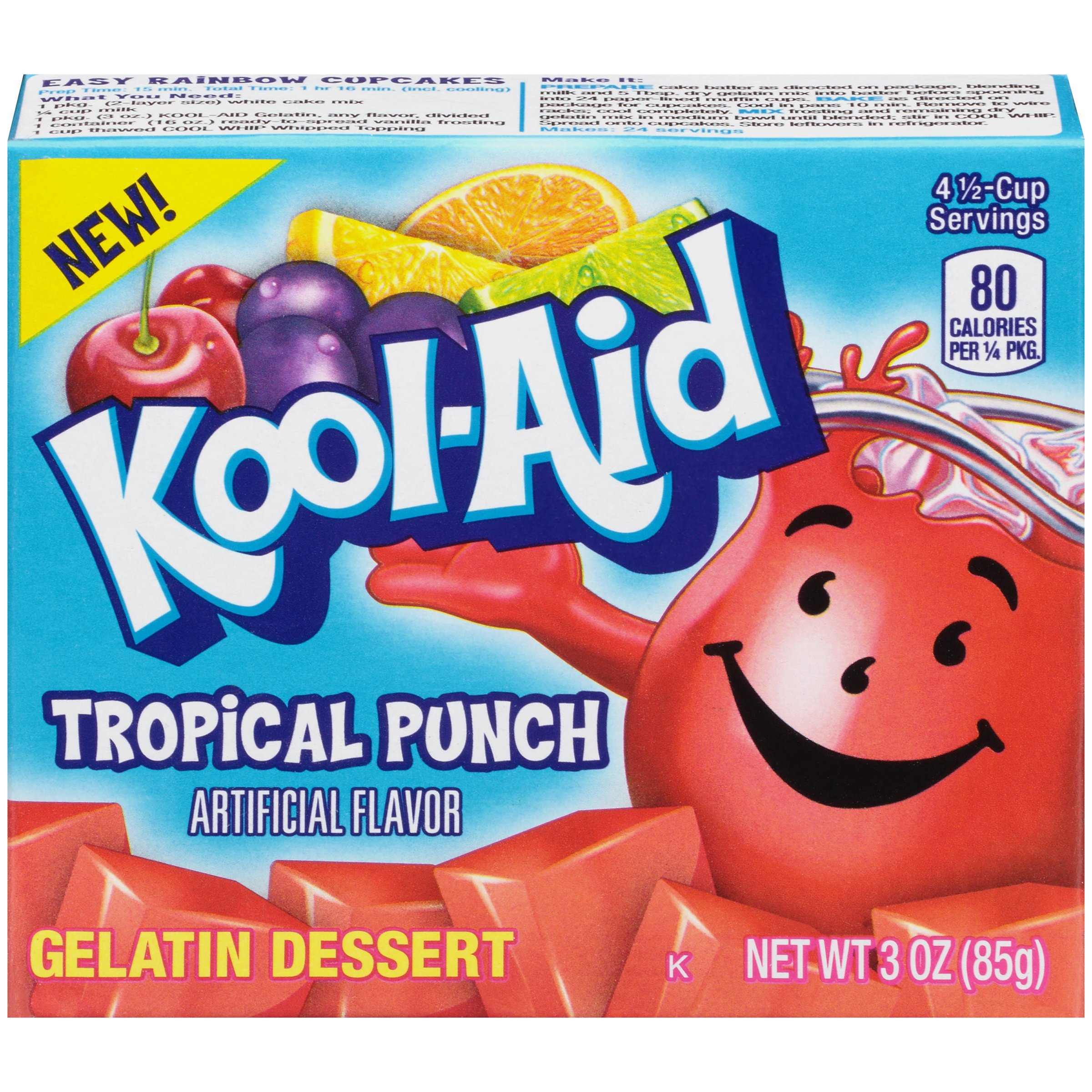 Kool-Aid Tropical Punch Gelatin Dessert Mix 3 oz. Box
