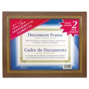 NuDell Leatherette Document Frame, 8-1/2 x 11, Espresso Brown, Pack of Two -NUD21203
