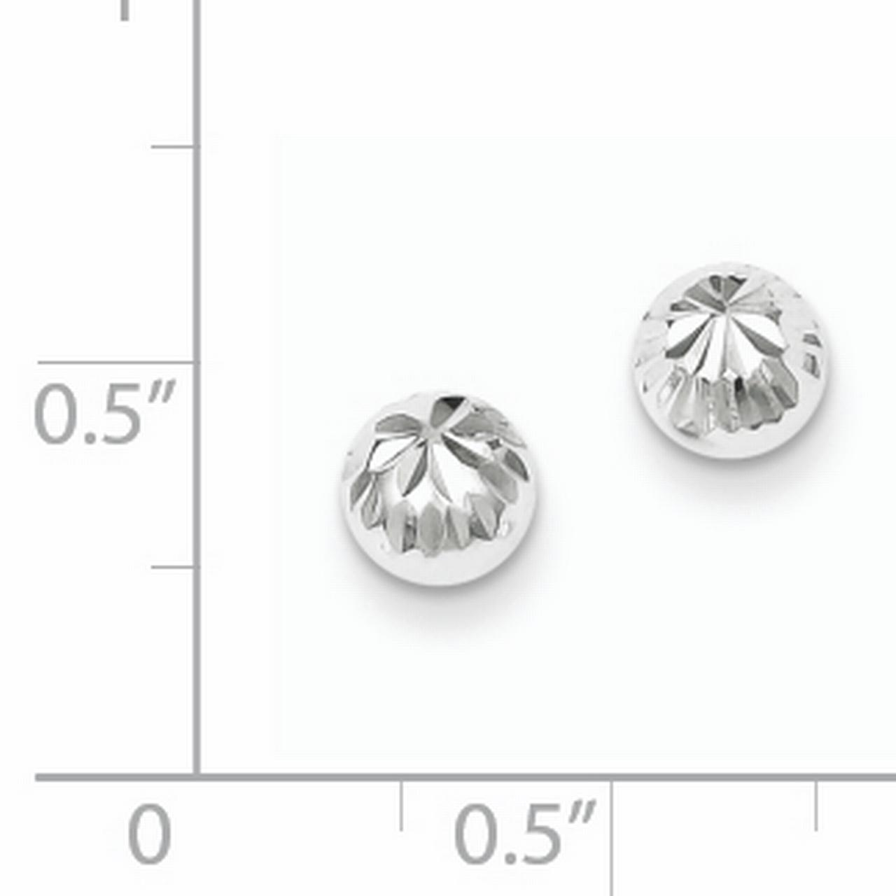 925 Sterling Silver Post Stud Earrings Ball Button Fine Jewelry Gifts For Women For Her - image 1 de 2
