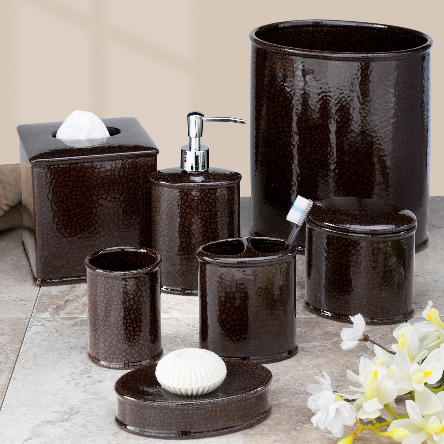 Creative Bath Products, Inc. Crackle Bath Accessory Collection