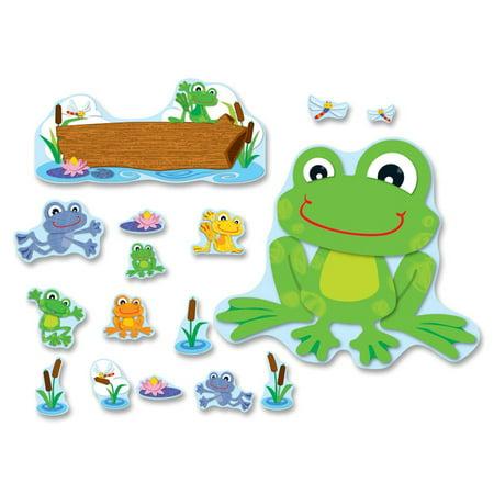 Carson-Dellosa Decorative Funky Frog Bulletin Board Set