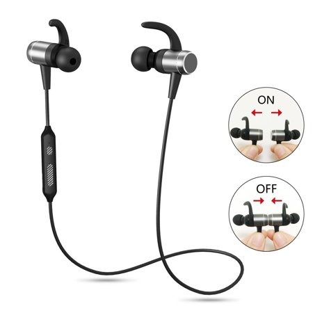 Bluetooth Headphones, Magnetic Auto On/Off Earbuds, OldShark Wireless 4 1  Sports Earphones, with Built in Microphone, Sweatproof, Premium Sound with