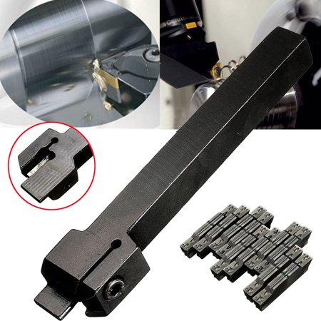 MGEHR1212-3 12x100 Lathe Cut-Off Grooving Tool Holder With 10pcs MGMN300 Inserts - image 3 de 7