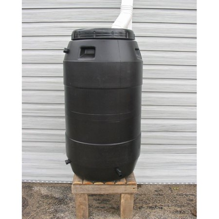 Upcycle 55 Gallon Black Rain Barrel ()