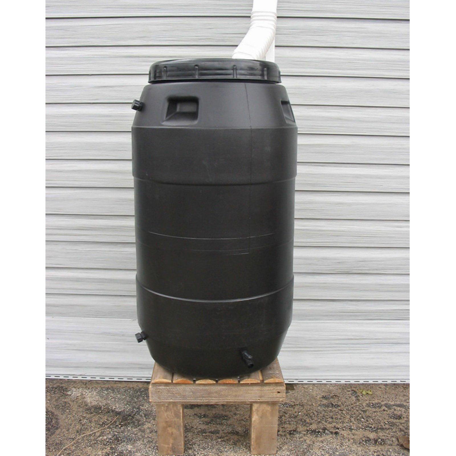 Upcycle 55 Gallon Black Rain Barrel