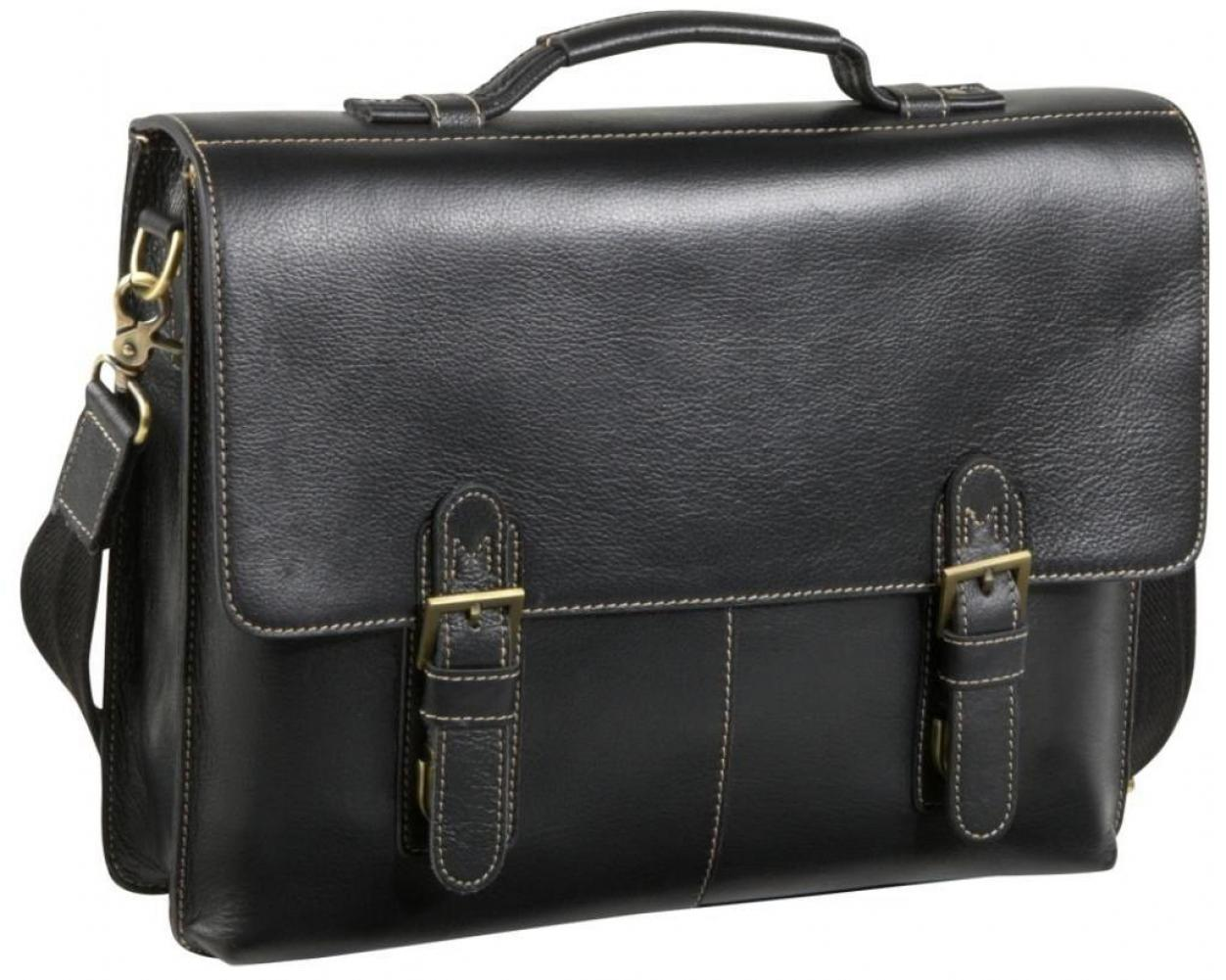 Amerileather Classical Leather Organizer Briefcase by Overstock