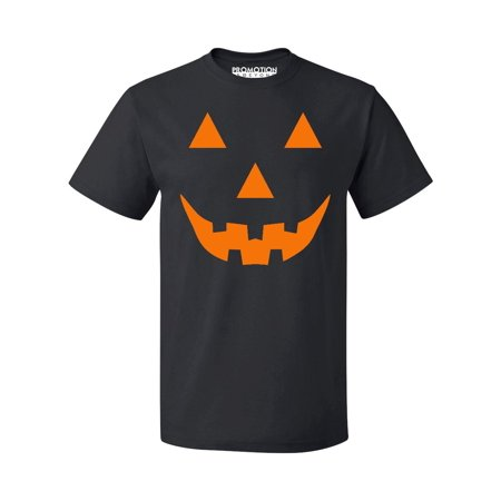 Light Up Halloween T Shirt (Pumpkin Face Funny Halloween Men's T-shirt, L,)