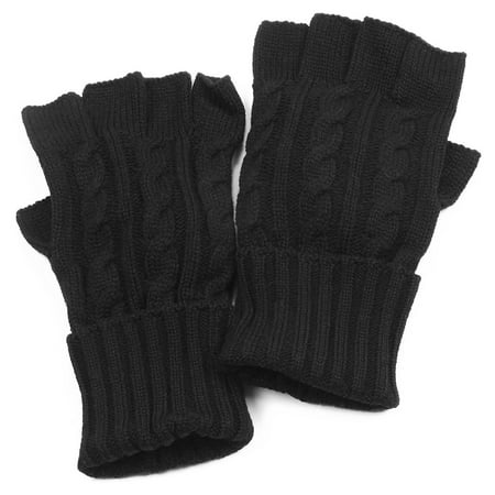 Muk Luks Mens Knit Cable Gloves