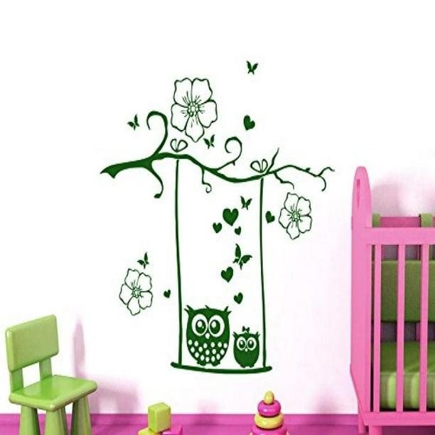 Wall Decal Owl On Branch Vinyl Sticker Decals Owls Nursery Kids Baby Room Murals Playroom Owl Decor 6017 Walmart Com Walmart Com