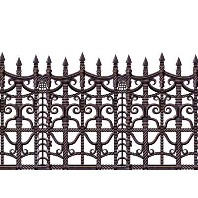 Pack of 6 Insta-Theme Creepy Fence Halloween Border Decorations - Halloween Insta Theme