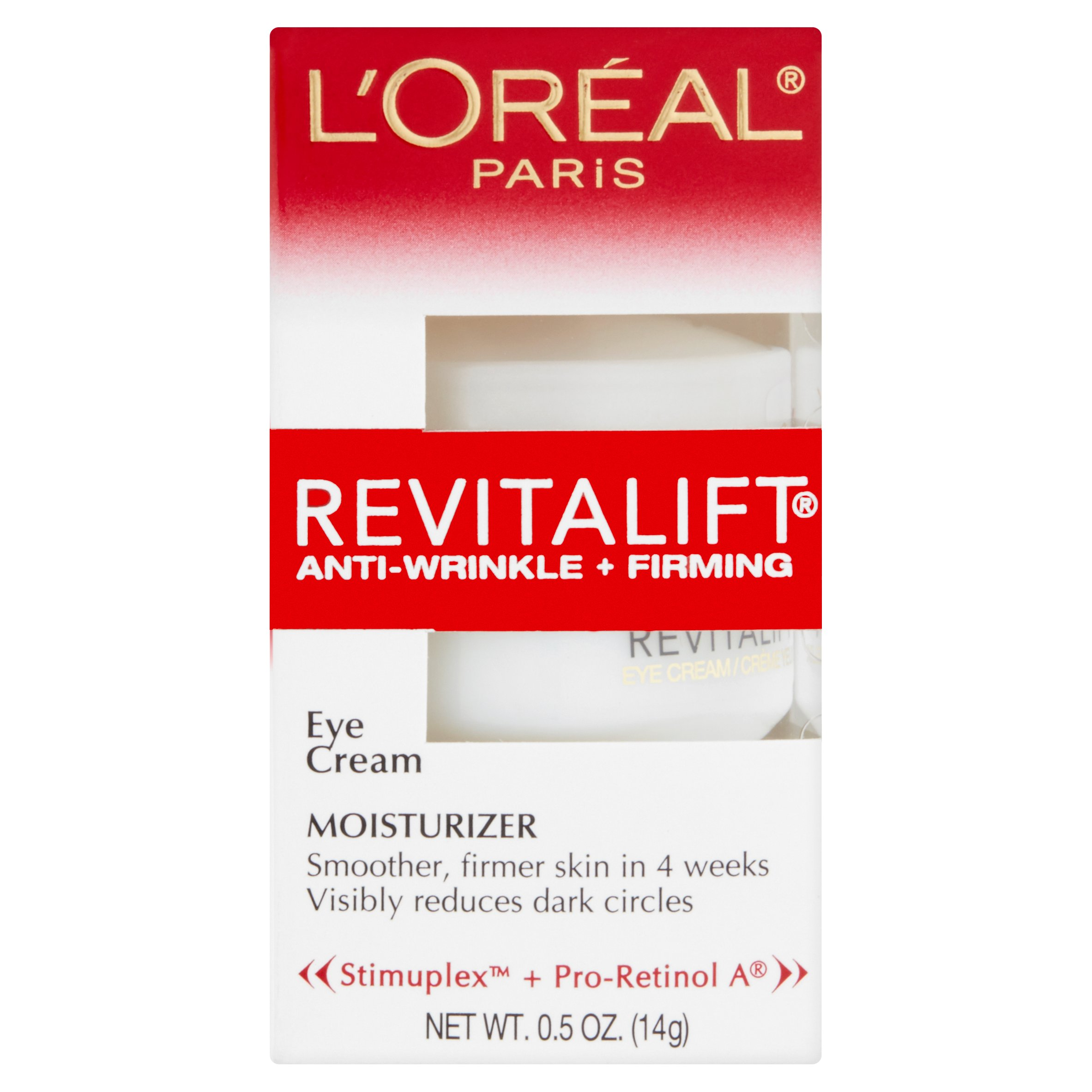 L'Oreal Paris Revitalift Anti-Wrinkle + Firming Eye Cream Moisturizer, 0.5 oz
