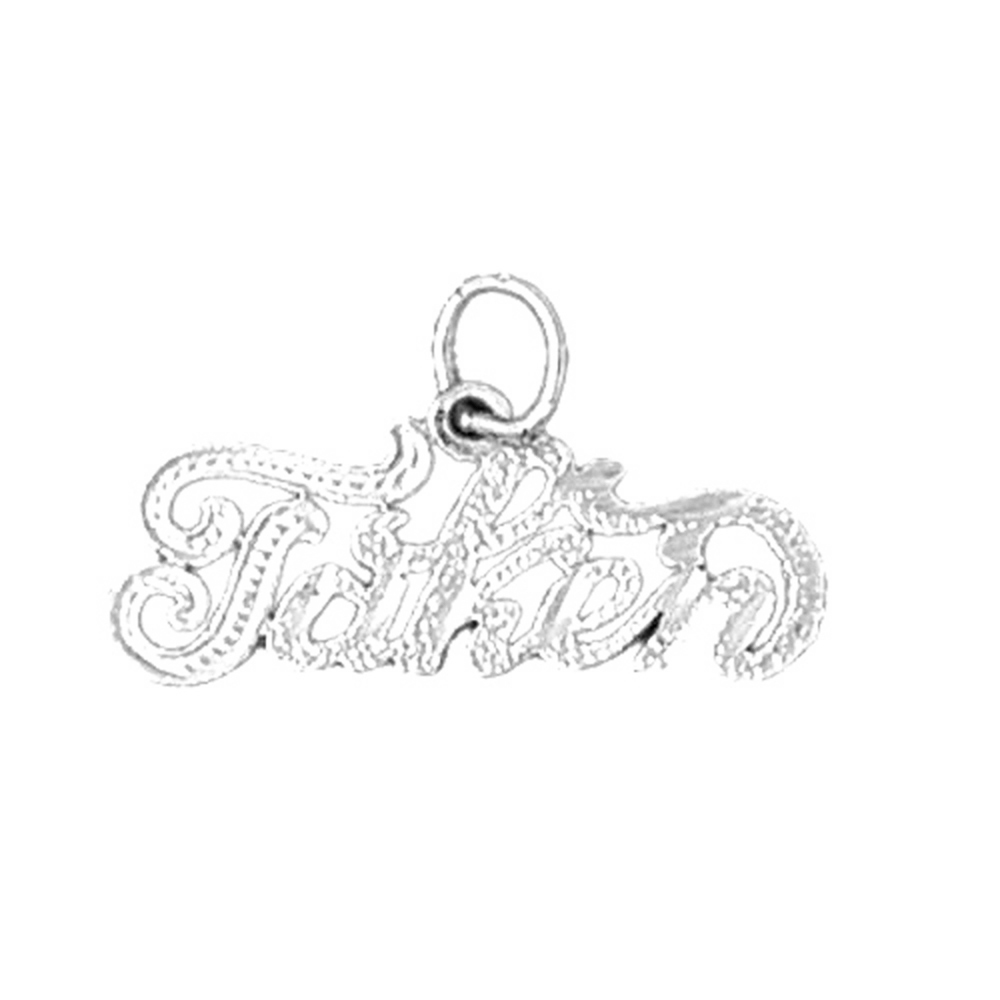 Sterling Silver Saying Pendant - 13 mm (Approx. 0.935 grams)