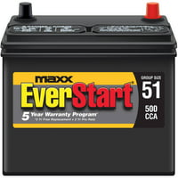 EverStart Maxx Lead Acid Automotive Battery, Group 51