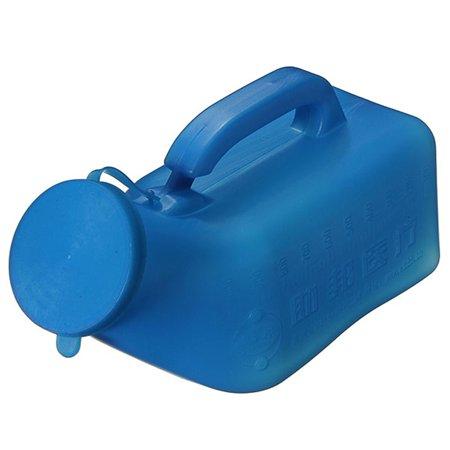 1000ML Blue Practical Portable Mobile Plastic Urinal Toilet Car Journey Travel Caravan bathroomfaucet Camping Male Handle Urine Bottle with Lid