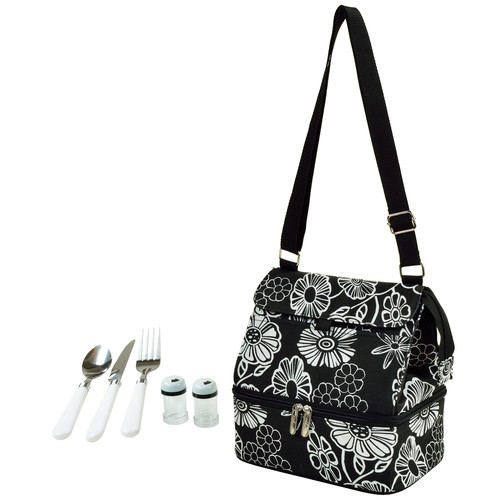 Picnic At Ascot Night Bloom Insulated Lunch Bag