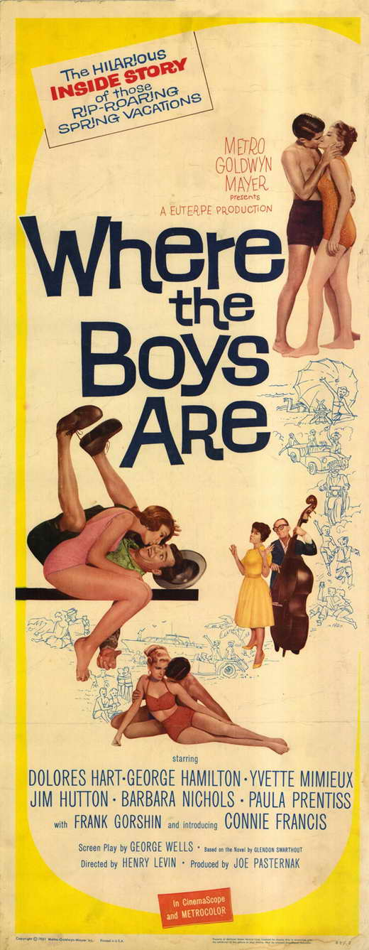 Where the Boys Are POSTER Movie Insert A (14x36) by Pop Culture Graphics