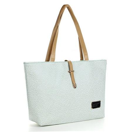 Fashion Women PU Leather Embossed Hobo Tote Shoulder Messenger Bags Purse Handbags Embossed Fashion Tote