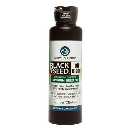 Image of Amazing Herb Black Seed with Pumpkin Seed Oil, 8 Oz