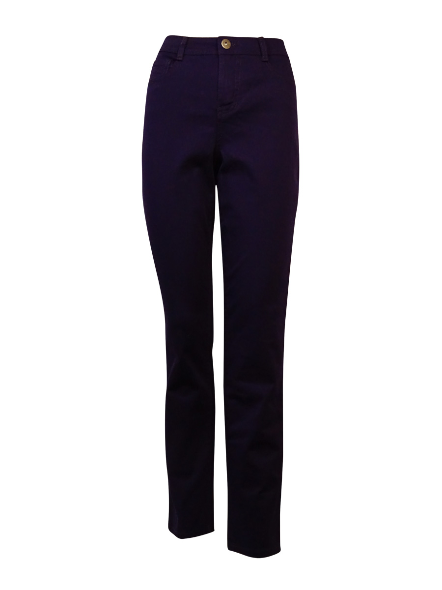 Style & Co. Women's Tummy Control Slim Leg Denim Jeans (4, Purple Darkness)