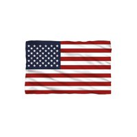 Lightweight American Flag Fleece Blanket