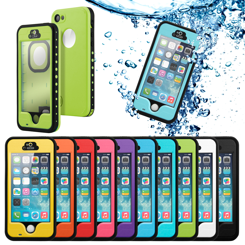 New 2016 Durable Waterproof Shockproof Snow DirtProof Fingerprint Full Case Cover For Apple iPhone SE 5 5S