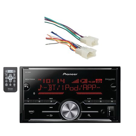 - Pioneer Vehicle Digital Media Double Din Receiver with Bluetooth and Enhanced Audio Functions, Black and Metra Radio Wiring Harness For Toyota 87-Up Power 4 Speakers