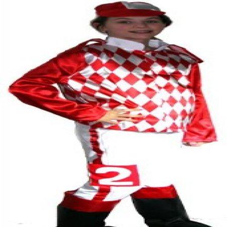 Jockey Silks Costume Child Red & White (Silk Spectre Costumes)