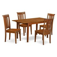 East West Furniture Picasso 5-Piece Windsor Dining Table Set