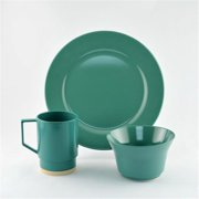 Galleyware 1033-S 12 Solid Color Melamine Non-skid 12 Piece Dinnerware Gift Set