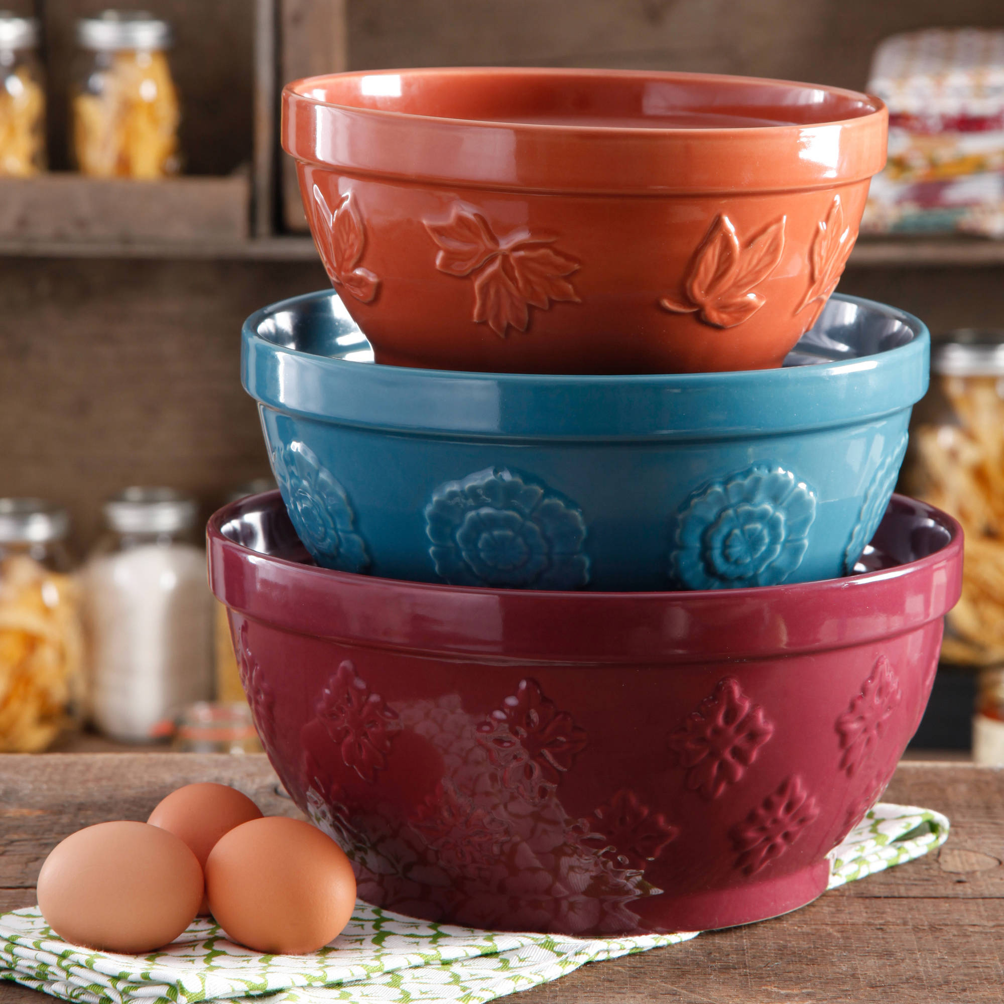 The Pioneer Woman Cornucopia Mixing Bowl Set, 3-Piece