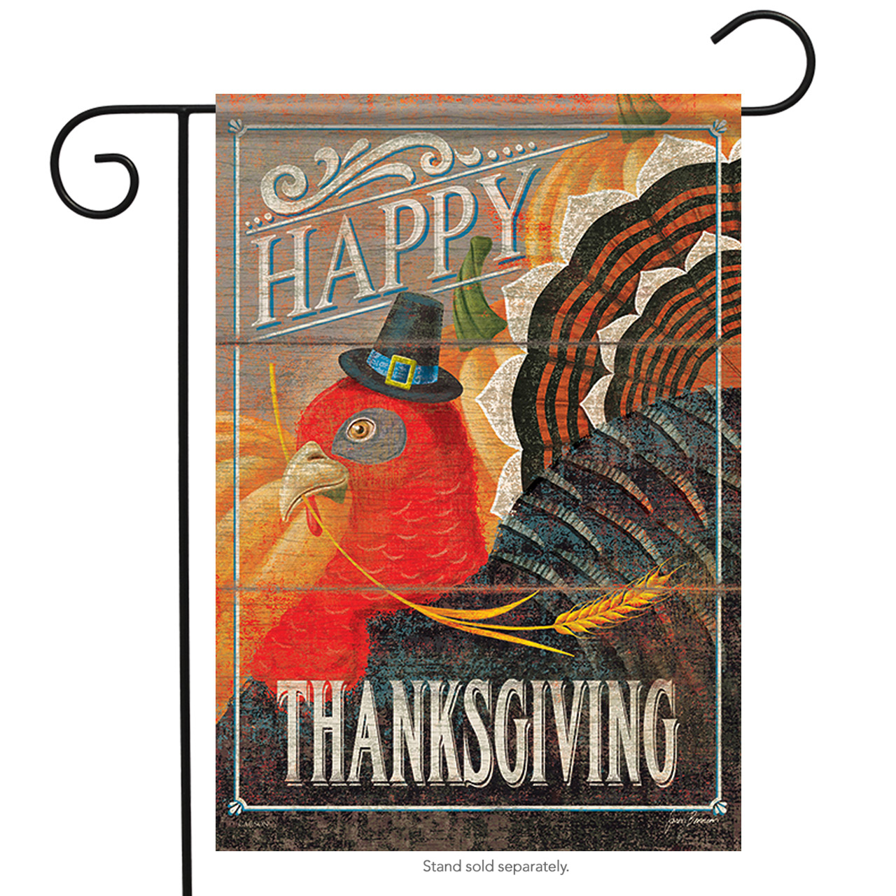 "Turkey Day Thanksgiving Garden Flag Fall Holiday Harvest Pumpkin 12.5""x18"""