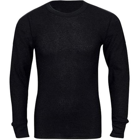 Cotton Plus Thermal Top - Black - 5XL Case of 12 - image 1 of 1