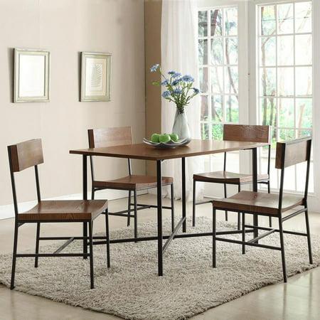 Carolina 4 Piece Square (Carolina Fletcher 5 Piece Rectangular Dining Table Set with Fletcher Dining Chairs )