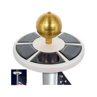 Waterproof Solar Flag Pole light 26 LED Flagpole Downlight Lighting Night Light for 15 to 25 Ft Top