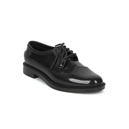 New Women Melissa Classic Brogue PVC Lace Up Spectator Loafer