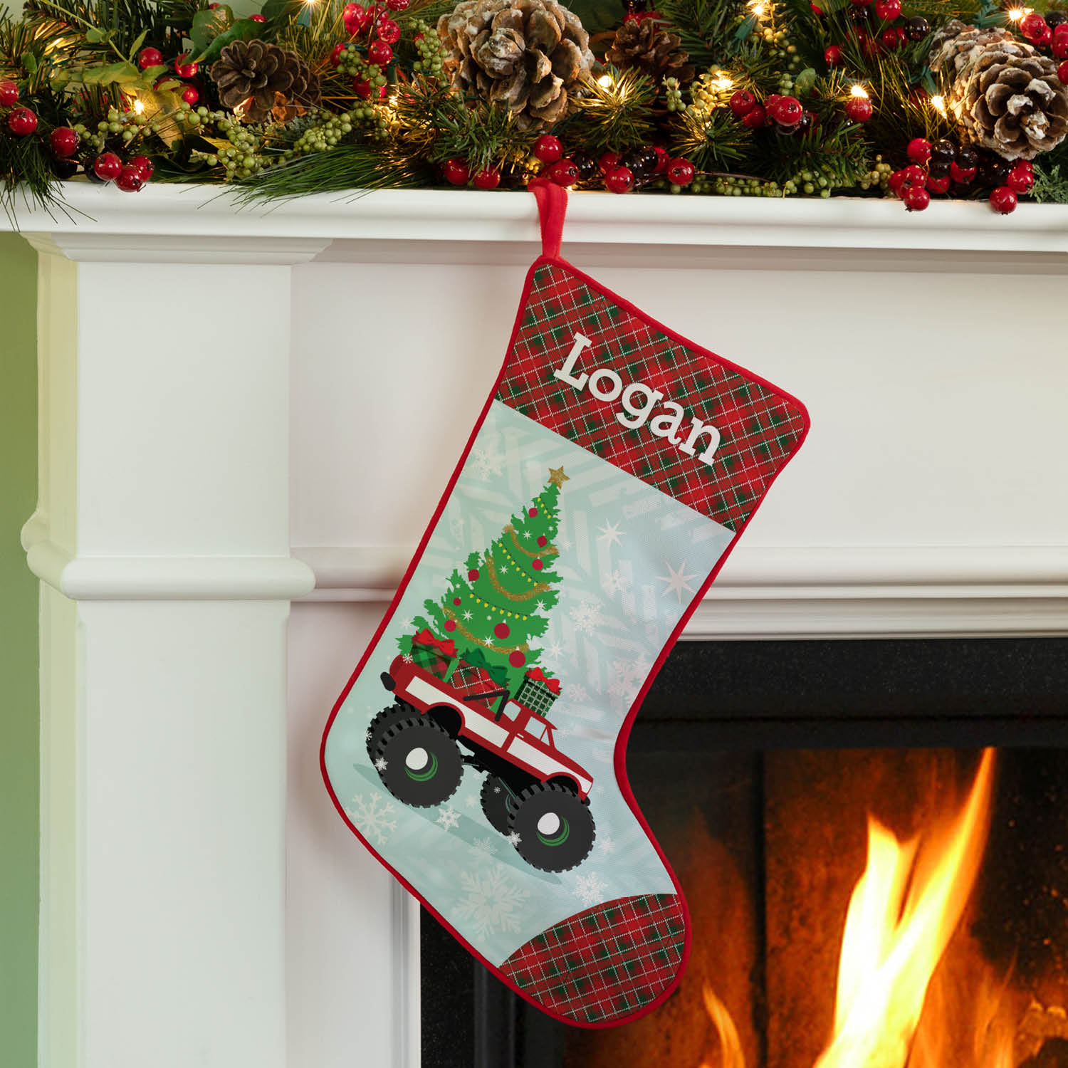 Personalized Monster Truck Stocking