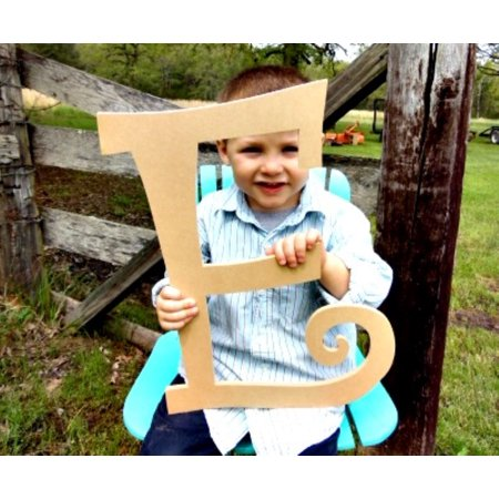 Cursive Wooden Letter, Curlz Letter E 18