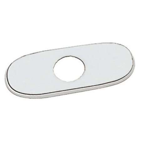 Grohe 07 551 000 6-Inch Euro Escutcheon Plate For Covering Unused Mounting Holes, StarLight Chrome