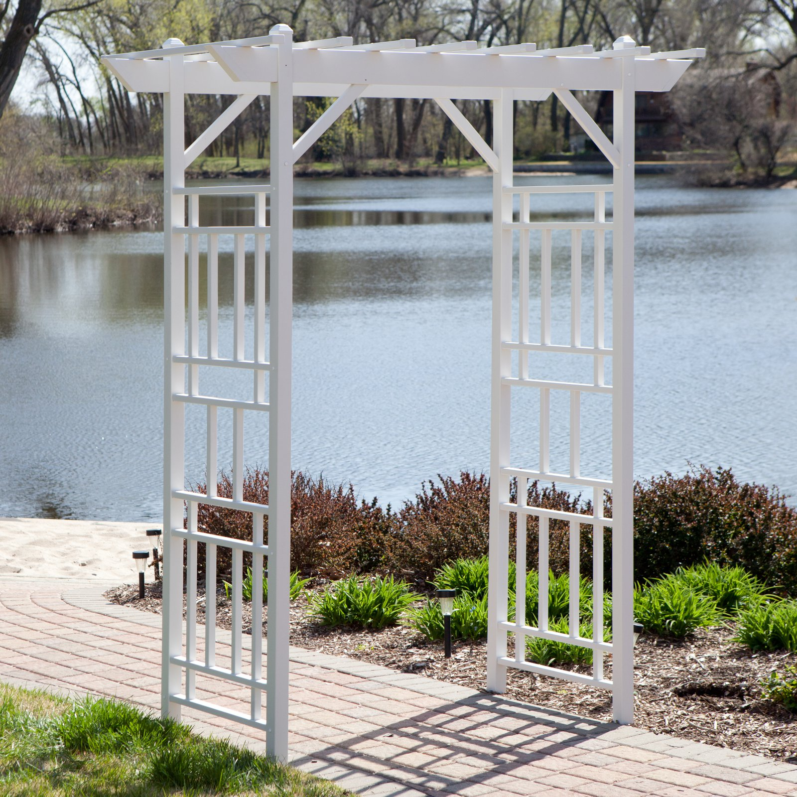 Dura-Trel Wellington 7-ft. Vinyl Pergola Arbor White by Arbors