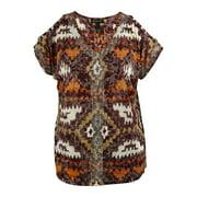 INC International Concepts Women's Cold-Shoulder Sequin Top
