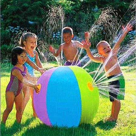 60cm Water Fountain Ball Water Ball Inflatable Ball Toy for Summer Outdoor Party Games Swimming Pool Beach - Beach Ball Games