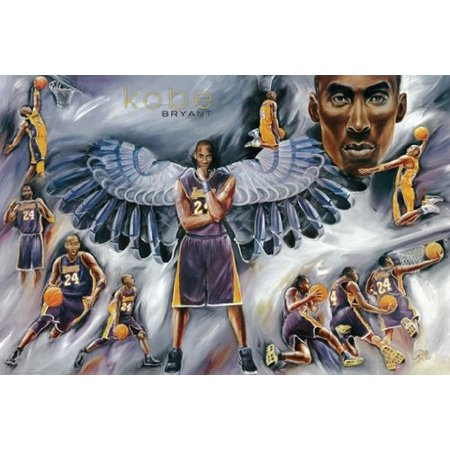Kobe Bryant Poster Amazing Collage Lakers New 24X36
