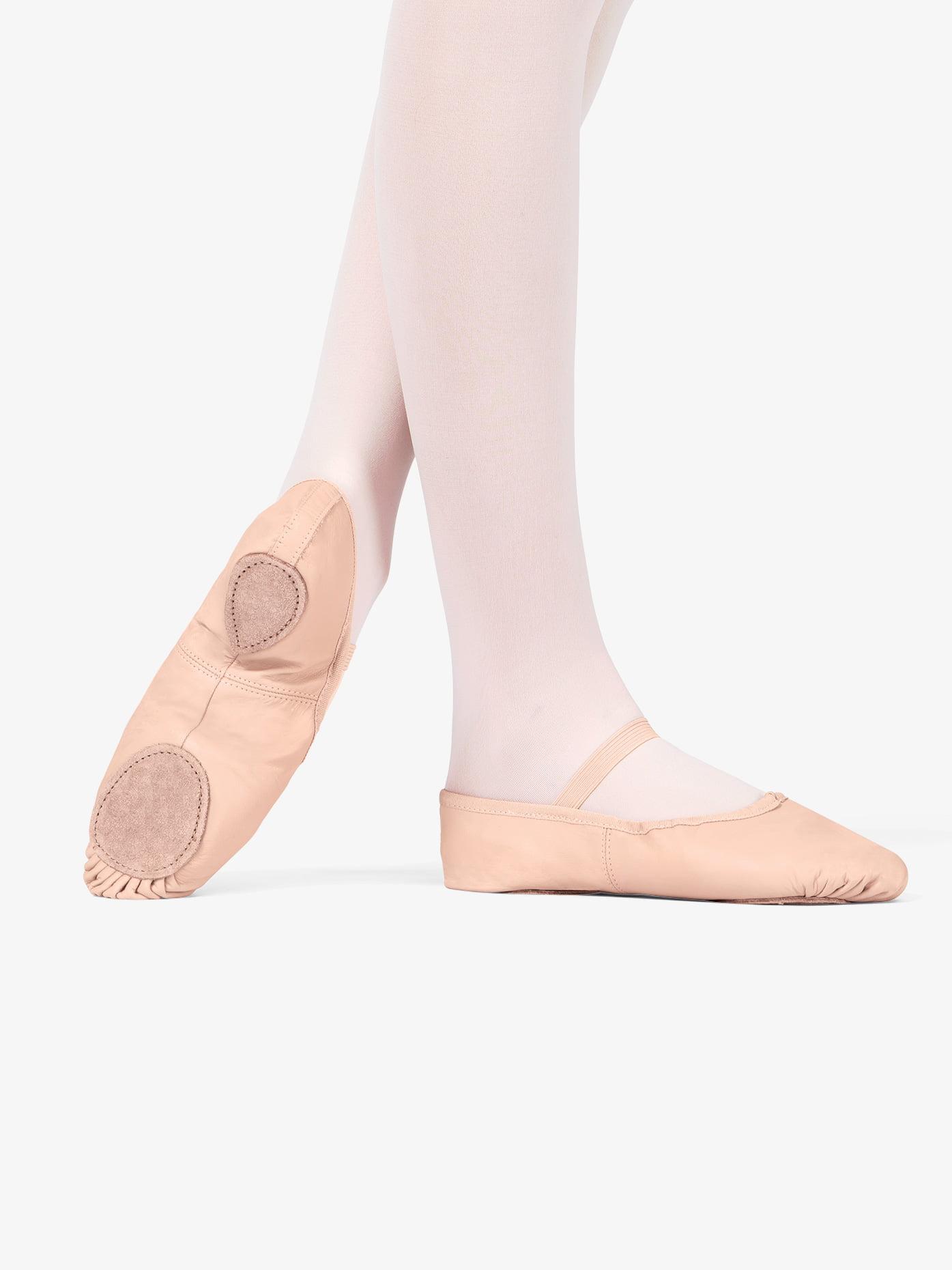 Child Leather Split-Sole Ballet Shoes
