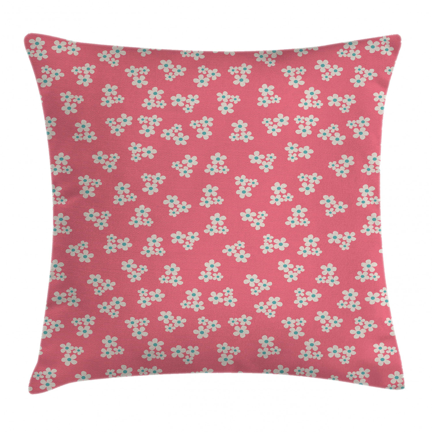 Country Home Throw Pillow Cushion Cover Cute Little Daisies Bouquets Girls Bedroom Decor Freshness Pink Backdrop Decorative Square Accent Pillow Case 16 X 16 Inches Teal Pink White By Ambesonne Walmart Com