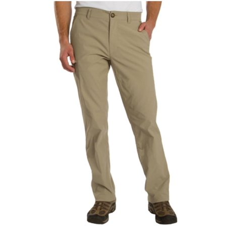 UB Tech Mens Rainier Travel Chino Active Cargo Pant (Khaki, 40W x 30L) Run Omni Tech Pant